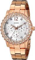 GUESS GUESS? Women's U0335L3 -Tone Multi-Function Watch with Genuine Crystal Accented Case