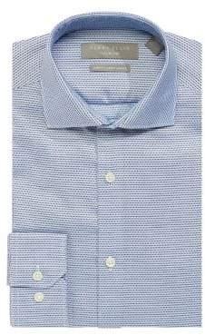 Perry Ellis Slim Fit Stretch Micro Dot Dress Shirt