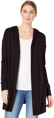 Daily Ritual Amazon Brand Women's Supersoft Terry Hooded Open Oversized Sweatshirt