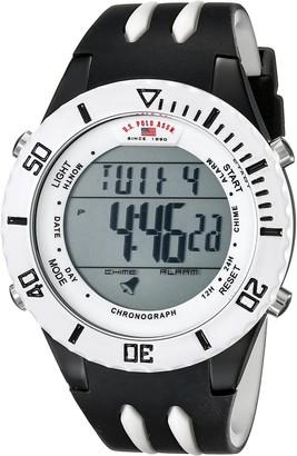 U.S. Polo Assn. Sport Men's US3118 Digital Display Analog Quartz Black Watch
