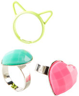 Carter's 3-Pack Kitty and Gem Ring Set