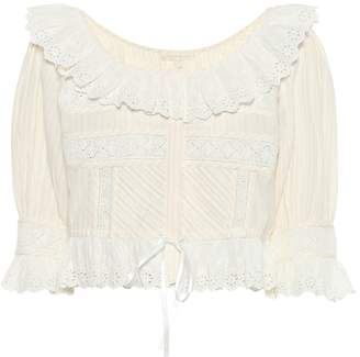 LoveShackFancy Tiana frilled cotton top