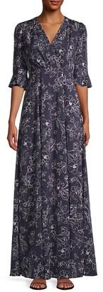 Gal Meets Glam Floral Faux-Wrap Maxi Dress