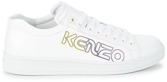 Kenzo Logo Leather Sneakers