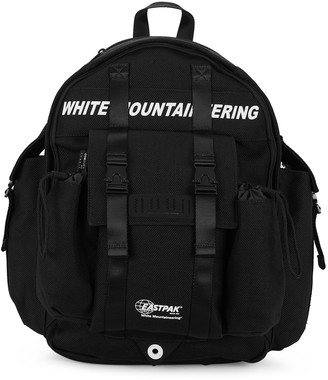 Eastpak X White Mountaineering black canvas backpack