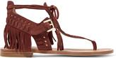 Sigerson Morrison Alysa fringed suede sandals