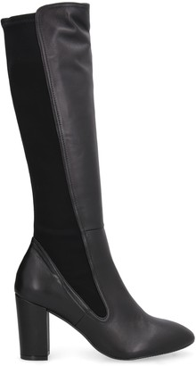 Stuart Weitzman Leather And Stretch Fabric Boots