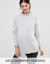 ASOS Maternity - Nursing ASOS Maternity NURSING Soft Chunky Sweater with Rib sleeves