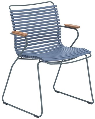 Pigeon Click Armrest Outdoor Dining Chair Blue