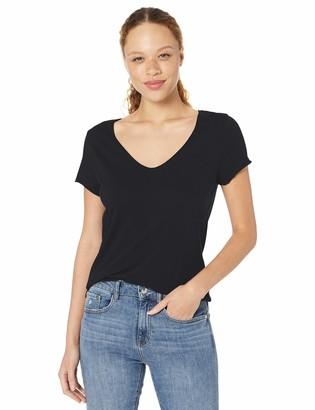 Michael Stars Women's Jade Vintage Jersey Short Sleeve Soft V-Neck Tee