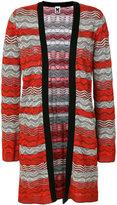 M Missoni striped cardi-coat - women - Cotton/Polyamide/Polyester/Viscose - 44