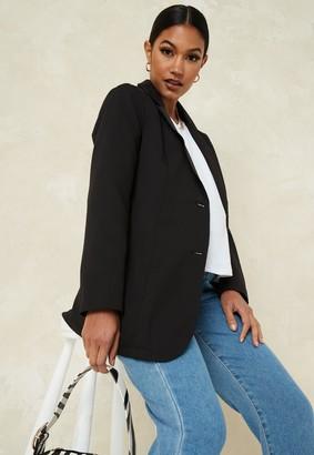 Missguided Black Oversized Maternity Blazer