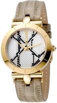 Just Cavalli Women's Animal Devore Leather Strap Watch