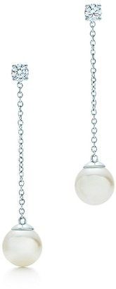 Tiffany & Co. Signature Pearls drop earrings in white gold with pearls and diamonds