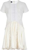Burberry Macramé Lace and Satin Dress