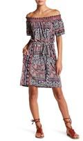 Lucky Brand Print Off-the-Shoulder Dress