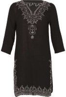 Dorothy Perkins Womens *Izabel London Black Embroidered Tunic- Black