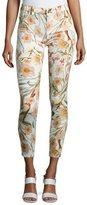 7 For All Mankind The Ankle Skinny Floral-Print Jeans, Multi