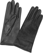 Forzieri Women's Black Pony Hair and Italian Nappa Leather Gloves