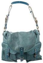 Balenciaga Leather-Trimmed Shoulder Bag