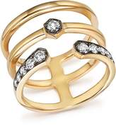 Bloomingdale's Diamond Triple Row Band in 14K Yellow Gold, .45 ct. t.w. - 100% Exclusive