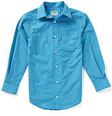 Class Club Big Boys 8-20 Button-Front Long-Sleeve Gingham Shirt