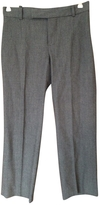 Chloé Anthracite Wool Trousers