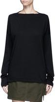 Bassike Boat neck organic cotton long sleeve T-shirt