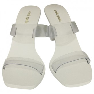 Cult Gaia White Rubber Heels