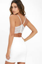 LuLu*s Heartbeat Song Ivory Backless Lace Dress