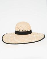 Le Château Two-Tone Woven Brim Hat
