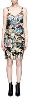 Givenchy Crazy Cleopatra print fan appliqué silk dress