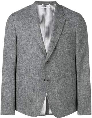 Thom Browne solid tweed sack sport coat