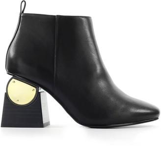Kat Maconie Black Leather Solange Ankle Boot