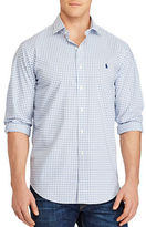 Polo Ralph Lauren Big and Tall Checked Cotton Poplin Shirt