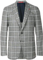 Isaia checked button blazer