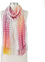 Apt. 9 zigzag lurex woven scarf