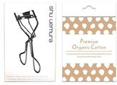 shu uemura Eye Eyelash Curler & Original Organic Premium Cotton 4pc (travel kit)
