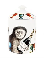 Fornasetti champagne monkey scented wax candle
