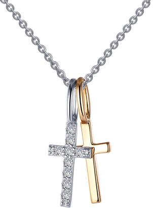 Lafonn Two Cross Pendant Necklace
