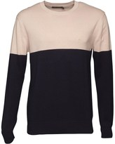 French Connection Mens Lightweight Cut And Sew Jumper Marine/Stone