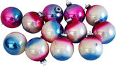 One Kings Lane Vintage Ombre Christmas Ornaments w/Box, S/12