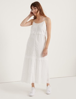 Lucky Brand Pomegranate Eyelet Voile Tiered Dress