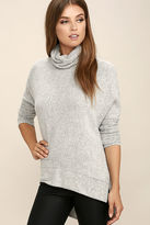 LuLu*s Gentle Manner Heather Grey Turtleneck Sweater