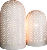 Global Views DwellStudio Studio Dome Ceramic Lamp Matte White-Large