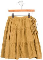 Bonpoint Girls' Metallic-Accented A-Line Skirt w/ Tags