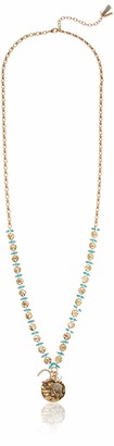 lonna & lilly Women's Gold Tone Multi 36 Inch Long Beaded Pendant Necklace One Size
