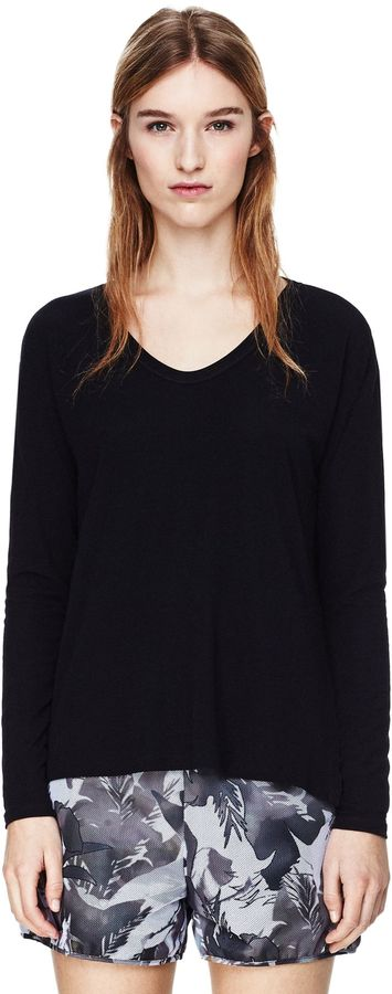 Theory Altha Tee in Ribbed Viscose