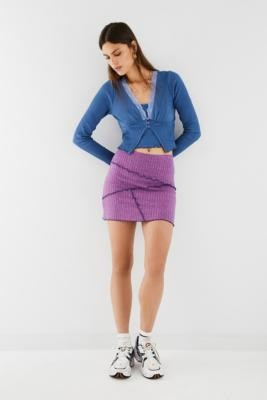 Urban Outfitters Spacedye Spliced Mini Skirt - Pink XS at