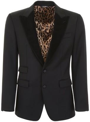 Dolce & Gabbana Print Lined Blazer
